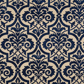 Blue & Natural Venice Blueberry Fabric
